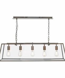 Reguliuojamo aukščio modernus penkių lempučių  šviestuvas Dar ACADEMY