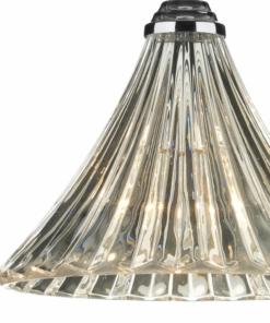 Pakabinamas chromo spalvos šviestuvas su stiklo gaubtu Dar ARDECHE