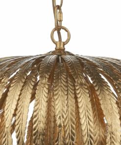 Pakabinamas šviestuvas su aukso spalvos dekoracijomis Dar ATTICUS