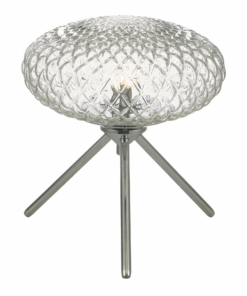 Stalo šviestuvas su nelygios tekstūros stiklo gaubtu Dar BIBIANA