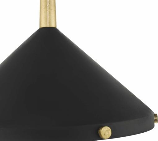 Pakabinamas juodos spalvos šviestuvas Dar EDENA