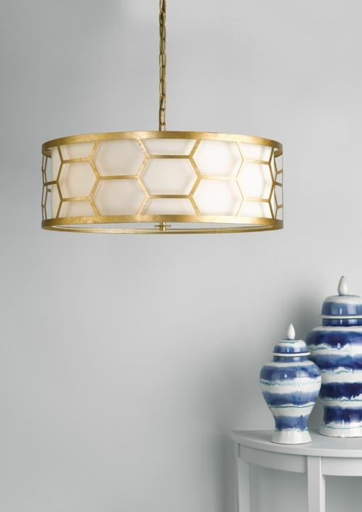 Pakabinamas šviestuvas su aukso spalvos dekoracija Dar EPSTEIN