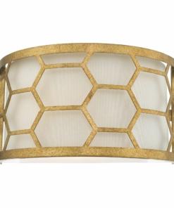 Sieninis šviestuvas su aukso spalvos dekoracija Dar EPSTEIN