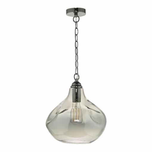 Pakabinamas lašo formos šviestuvas su nelygaus stiklo gaubtu DAR ESAROTA