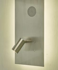 Sieninis šviestuvas su garsiakalbiu Dar ETA