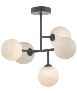 Pakabinamas šviestuvas su stiklo gaubteliais Dar EUAN