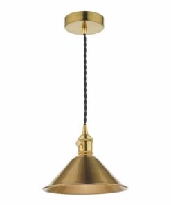 Pakabinamas šviestuvas su kūgio formos gaubtu Dar HADANO
