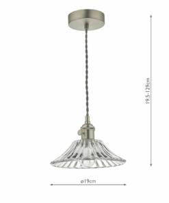 Pakabinamas šviestuvas kūgio formos stiklo gaubtu Dar HADANO
