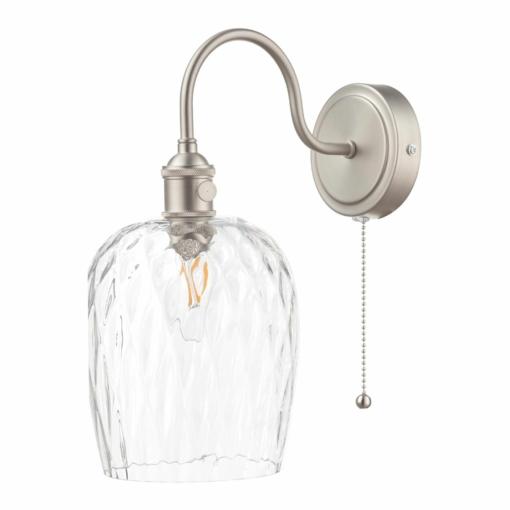 Sieninis šviestuvas su stikliniu gaubtu Dar HADANO