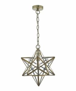 Pakabinamas žvaigždės formos modernus šviestuvas Dar ILARIO