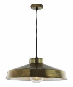Pakabinamas šviestuvas metaliniu gaubtu Dar KEDRIC