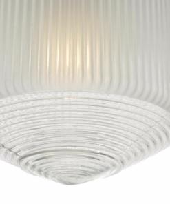 Pakabinamas šviestuvas su briaunoto ir matinio stiklo gaubtu Dar NISHA