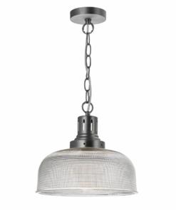 Pakabinamas šviestuvas nelygios tekstūros stiklo gaubtu Dar TACK