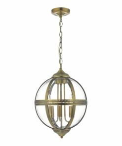 Pakabinamas trijų lempučių gaublio formos šviestuvas Dar VANESSA