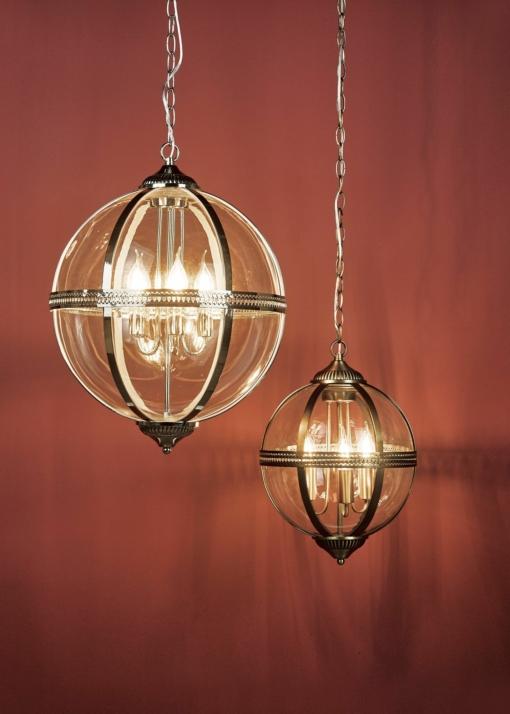 Pakabinamas penkių lempučių gaublio formos šviestuvas Dar VANESSA