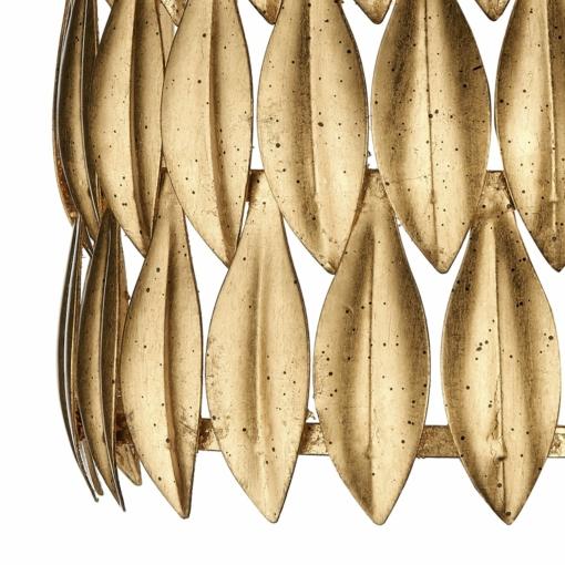 Aukso spalvos sieninis šviestuvas Dar VOLCANO