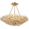 Pakabinamas šviestuvas su aukso spalvos lapeliais Dar VOLCANO