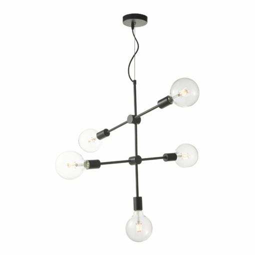 Pakabinamas penkių lempučių šviestuvas Dar YONAH