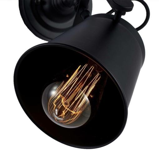 Juodas sieninis šviestuvas Cosmolight DETROIT