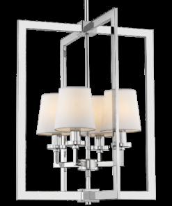 Pakabinamas šviestuvas su keturiais gaubteliais Cosmolight LONDON