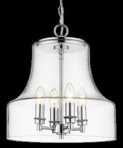 Pakabinamas šviestuvas su stikliniu gaubtu Cosmolight PRAGUE