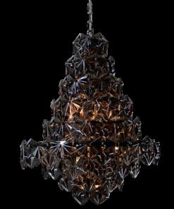 Tamsus šviestuvas su briaunuotu stiklu Cosmolight BRISBANE