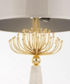 Stalo šviestuvas su aukso spalvos dekoracija Cosmolight CARTAGENA