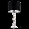 Stalo šviestuvas tamsiu tekstilės gaubtu Cosmolight LIMA