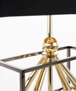 Stalo šviestuvas su aukso spalvos dekoracijomis Cosmolight QUITO