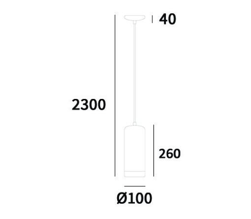 Pakabinamas cilindro formos šviestuvas Cosmolight TRONDHEIM
