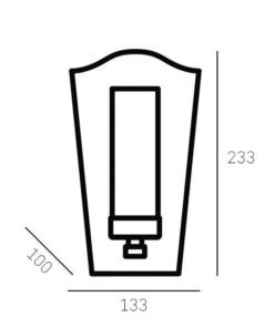 Sieninis šviestuvas Cosmolight DUBLIN
