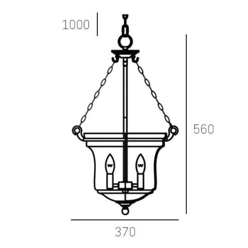 Pakabinamas dubens formos šviestuvas Cosmolight PRAGUE