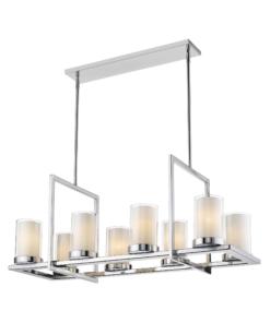 Pakabinamas šviestuvas su 8 stiklo gaubteliais Cosmolight MIAMI