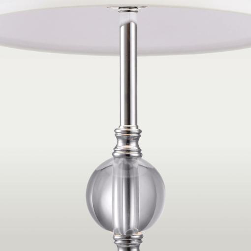 Stalo šviestuvas su baltu tekstilės gaubteliu Cosmolight MONACO