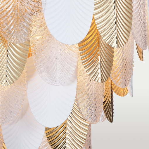Sietynas su lapelių formos dekoracijomis Cosmolight PALERMO