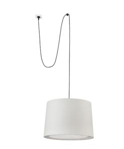 Pakabinamas šviestuvas su tekstilės gaubtu Faro CONGA