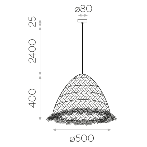 Kupolo formos pakabinamas šviestuvas ACB SAMIRA